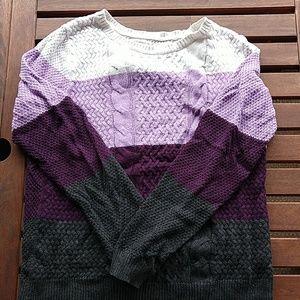 Croft & Barrow purple stripe sweater